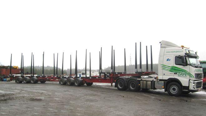 Orpe Kuljetus Oy:n puutavarayhdistelmä