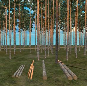 Puutavaralajien tunnistus laatumääreisiin perustuen. Kuvassa tukki- ja kuitupuupölkkyjen erottaminen toisistaan on tehtävä puiden pituus-, läpimitta-, ja laatutietojen perusteella. Myös kasamuodostelmiin perustuvaa tunnistusta voi käyttää.