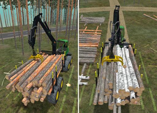 Esimerkit yhden puutavaralajin kuormasta ja kolmea eri puutavaralajia sisältävästä monilajikuormasta.