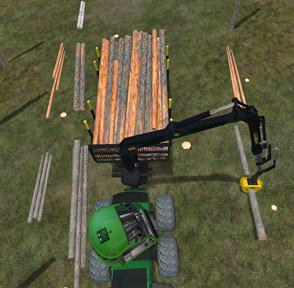 Hakkuukoneenkuljettaja voi helpottaa puutavaralajikasojen tunnistusta tekemällä kasat samaan järjestykseen.