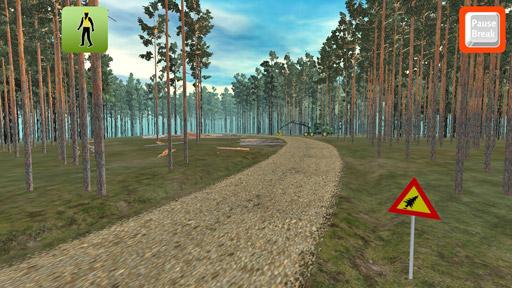 Aseta hakkuutyömaakyltti tien varteen näkyvälle paikalle ennen työn aloittamista.