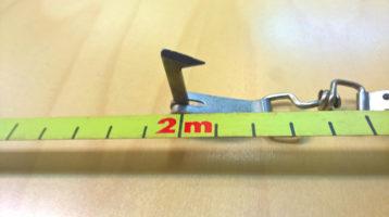 Tarkasta mihin 0-kohta osuu, ja huomioi se kiinnittäessäsi mittanauhan pölkyn tyveen.