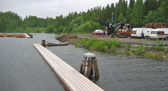 Yleiskuvaa Kaivantolahdelta - Perkaus Oy:n toimialueelta.